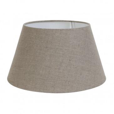 Round Lampshade - Dark Linen
