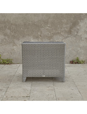 Oceane mid section. French grey rattan pictured on Southern French terrace. Pictured from the back