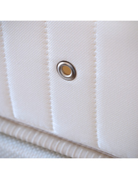 Close up of Domaine and Demeure white house mattress