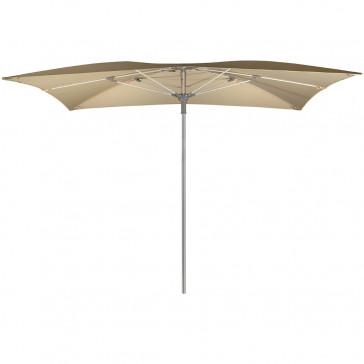 octagonal shaped parasol fully opened on white background