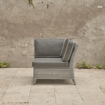 High quality corner section of modular garden furniture set. French grey