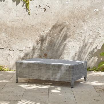 Ocean coffee table. High quality, French grey rattan.